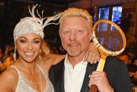 Boris Becker mit Ehefrau Lilly Foto: Star Press