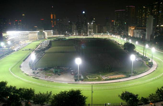 Die Rennbahn Happy Valley in Hong Kong